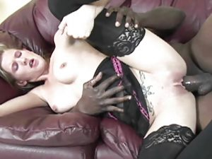 Cute coed Aspen Blue gets pounded with a big black cock