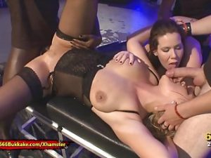 Pee and Cocks for Curvy sluts Tessa and Larissa – 666Bukkake