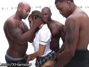 School Girl Keisha Grey Puts In Work Hot Rough BBC Gangbang