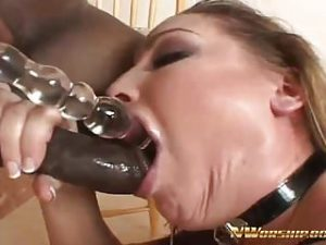 Slutty Big Ass Fucked with Anal Plug and Big Black Cock