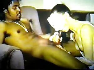 Vintage brunette taking black cock