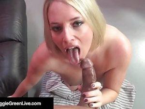 Full Figured Fox Maggie Green Sucks & Fucks Big Black Cock!