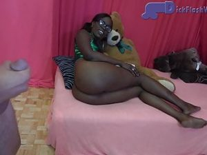 Ebony Stepsister CFNM Interracial Dick-Flashing
