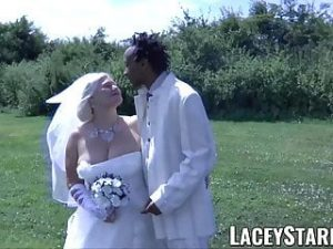 LACEYSTARR – Granny bride fed with cum after BBC pounding