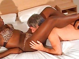 Powerful black woman controlling old man