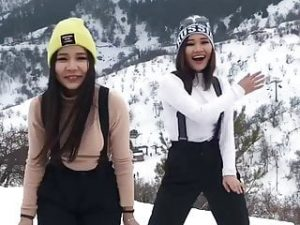 Cute Asian Girls Dancing Kazakh Beauties Kazakhstan Love Sex