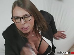 Classy Euro businesswoman IR assfucked and creamed